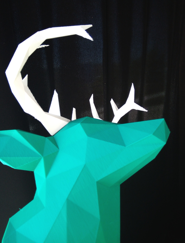 Faceted Deer Head 3D Print 14545