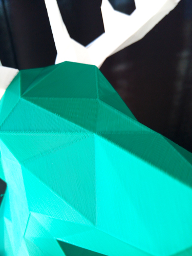 Faceted Deer Head 3D Print 14546