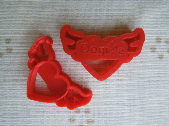 Heart Wings Cookie Cutter  3D Print 14560