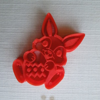 Small Easter Bunny Cookie Cutter 3D Printing 14564