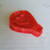 Small Love Ballon Cookie Cutter 3D Printing 14573