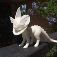 Small Vaporeon Pokemon Eevee evolution 3D Printing 14591