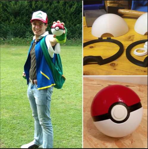 Pokeball (opens and closes) 3D Print 14595