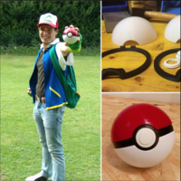 Small Pokeball (opens and closes) 3D Printing 14595