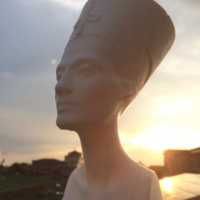 Small Bust of Nefertiti-Real 3d scan  3D Printing 14596