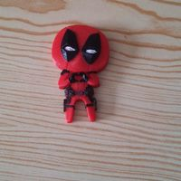 "Small Deadpool ""Feel The Love"" Magnet 3D Printing 14622"