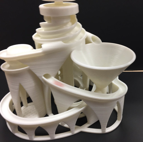 The Cyclone: triple lift, triple track marble machine 3D Print 14628