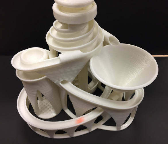 The Cyclone: triple lift, triple track marble machine 3D Print 14631