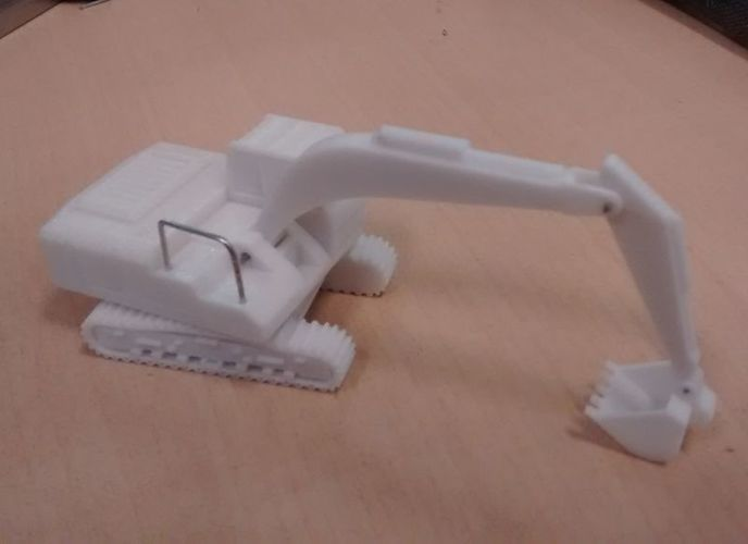 Easy to print Excavator Model Kit 3D Print 14700