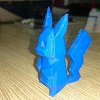 Small Low-Poly Pikachu - Multi and Dual Extrusion version 3D Printing 14836