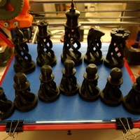 Small Spiral Chess Set (Large) 3D Printing 1488