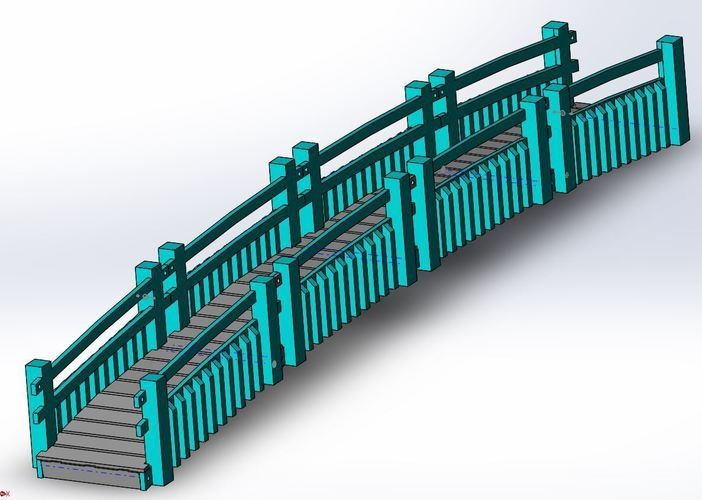 Garden Walk Bridge 3D Print 14899