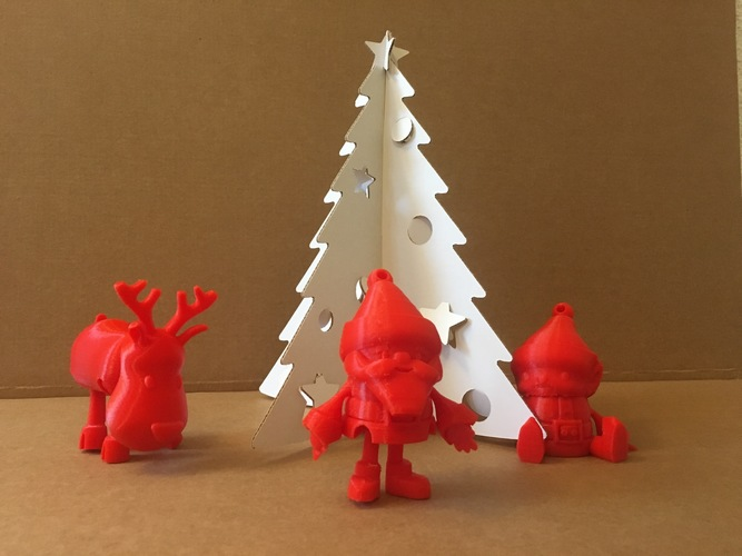 Articulated Christmas Toys 3D Print 14904