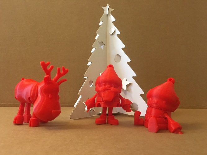 Articulated Christmas Toys 3D Print 14905