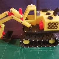 Small Real excavator 3D Printing 14910