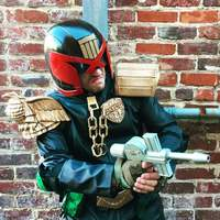 Small JUDGE ( DREDD ) HELMET 3D Printing 14918