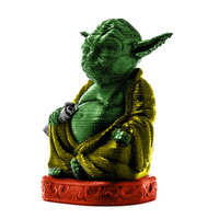 Small Improved Yoda Buddha w/ Lightsaber  3D Printing 14990