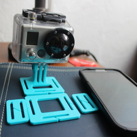 Small GoPro Head Strap Mount 3D Printing 1503