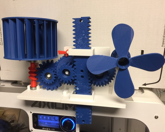 Wind Energy Stored In Gravity 3D Print 15034