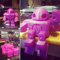 Small BIG Maker Faire Robot Action Figure 3D Printing 15060