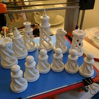 Small Spiral Chess Set (Large) 3D Printing 1518