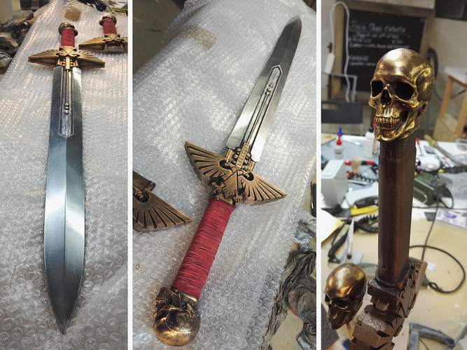 Warhammer 40K - Inquisitor Sword 3D Print 15291