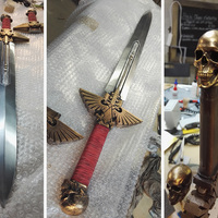 Small Warhammer 40K - Inquisitor Sword 3D Printing 15291