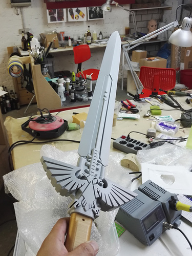 Warhammer 40K - Inquisitor Sword 3D Print 15295