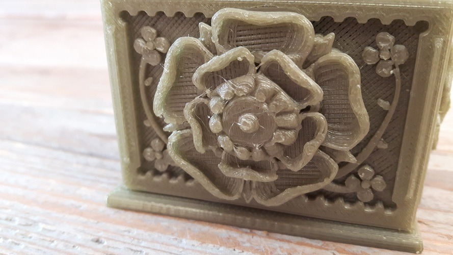 The Tudor Rose Box (with secret lock) 3D Print 15337