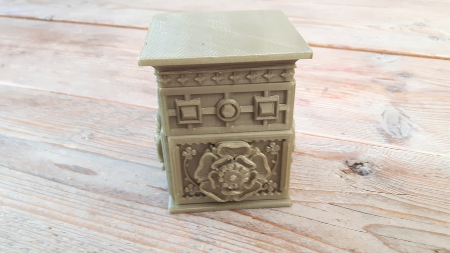 The Tudor Rose Box (with secret lock) 3D Print 15338