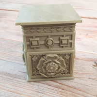 Small The Tudor Rose Box (with secret lock) 3D Printing 15338