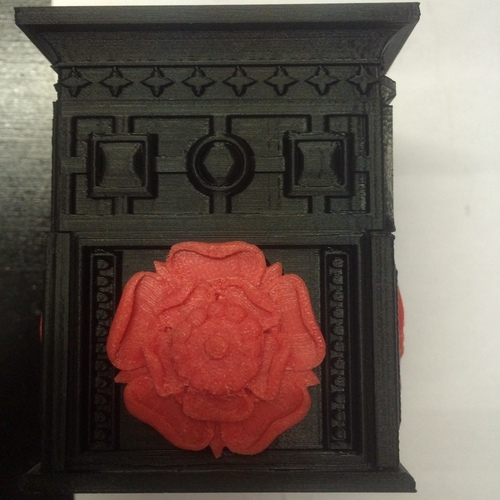 The Tudor Rose Box (with secret lock) 3D Print 1536