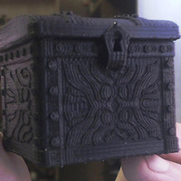 Small Tresure Chest Dice Case 3D Printing 15613