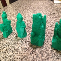 Small Medieval Times Themed Chess Set 3D Printing 15656