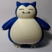 Small 卡比獸 / カビゴン / Snorlax / Pokemon 3D Printing 15684