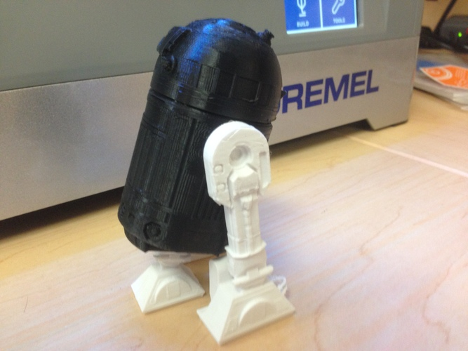 R2D2 Salt and Pepper Shaker 3D Print 1579