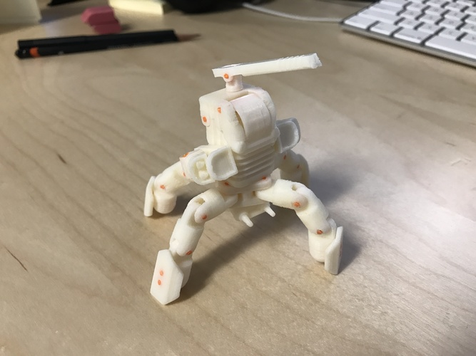 Mini Mech - Armored Version 3D Print 15799