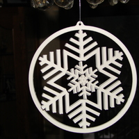 Small Gyroscopic Snowflake 3D Printing 15878