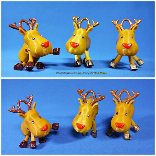Small Jointed Reindeer 3D Print 15972