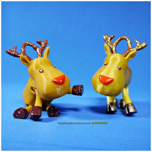 Small Jointed Reindeer 3D Print 15973