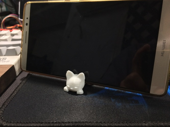 Keichain / Smartphone Stand Cat 3D Print 16046