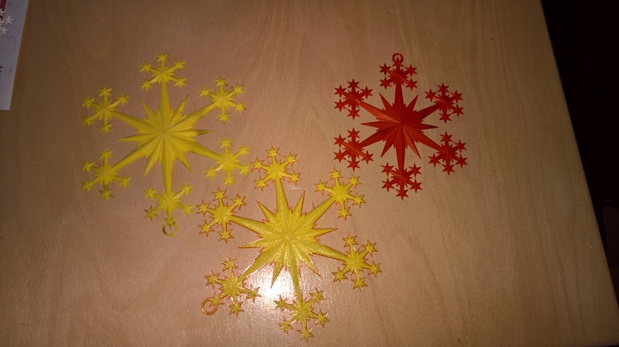 Star and Snowflake Star Ornament 3D Print 16079