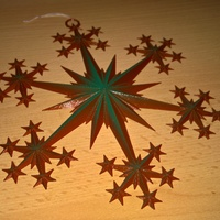 Small Star and Snowflake Star Ornament 3D Printing 16080