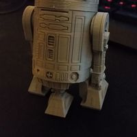 Small R2D2 Salt and Pepper Shaker 3D Printing 16187