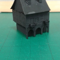 Small Another Tudor style house for Wargaming 3D Printing 16281