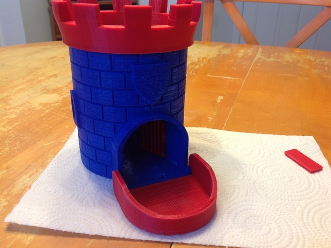 Dice Tower with Secret Chamber for Dice Storage II 3D Print 16350