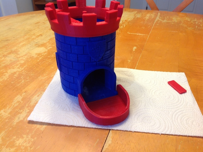 Dice Tower with Secret Chamber for Dice Storage II 3D Print 16351