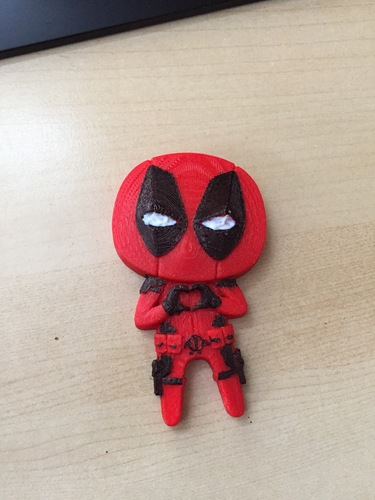 "Deadpool ""Feel The Love"" Magnet 3D Print 16365"