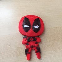 "Small Deadpool ""Feel The Love"" Magnet 3D Printing 16365"