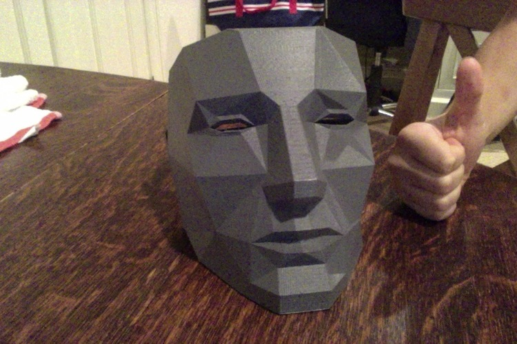 Printable Lowpoly mask 3D Print 16386